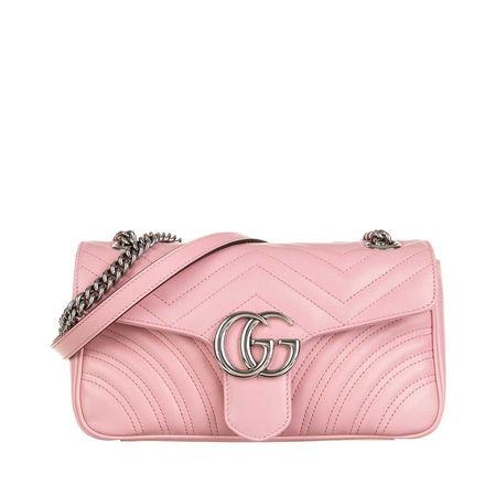 Gucci  Satchel Bag - GG Marmont Small Shoulder Bag Leather - in rosa - für Damen rot