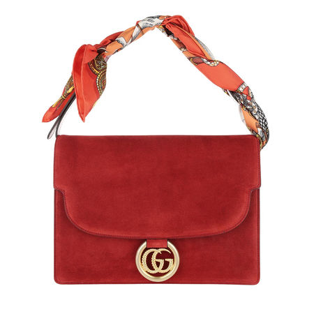 Gucci  Satchel Bag  -  Shawl Shoulder Bag Medium Red  - in rot  -  Satchel Bag für Damen rot