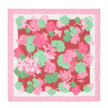 Gucci Schal aus Baumwolle mit Print von Ken Scott rosa