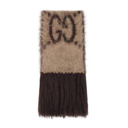 Gucci Schal aus Mohairwolle mit GGMuster