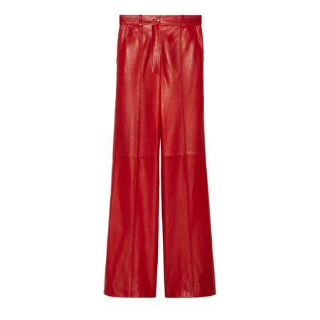 Gucci Schlaghose aus Plongé-Leder rot