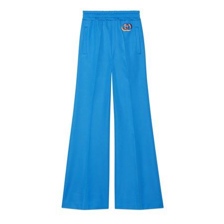 Gucci Schlaghose aus technischem Jersey blau