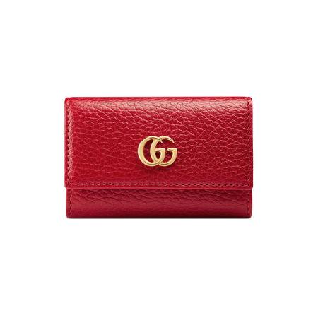 Gucci Schlüsseletui aus Leder rot