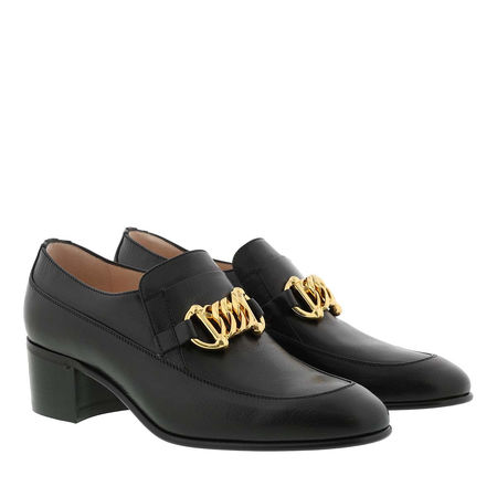 Gucci  Schuhe  -  Horsebit Chain Loafer Leather Black  - in schwarz  -  Schuhe für Damen grau