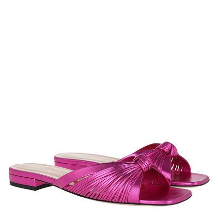 Gucci  Schuhe  -  Metallic Slide Leather Fuchsia  - in pink  -  Schuhe für Damen pink