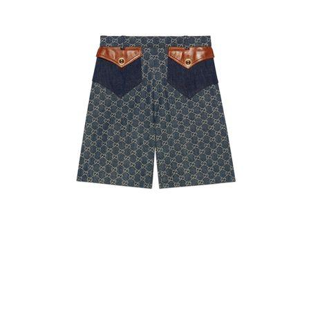 Gucci Shorts aus Bio-Denim mit ökologischer Waschung