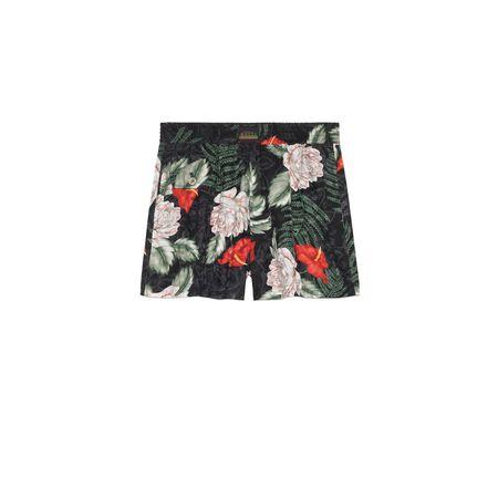 Gucci Shorts aus Seide mit hawaiianischem Print grau