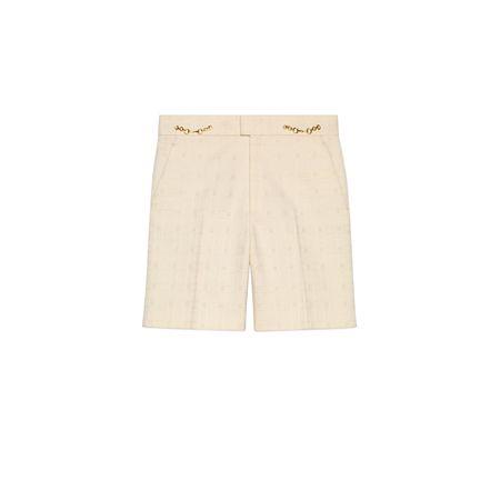 Gucci Shorts aus Tweed beige