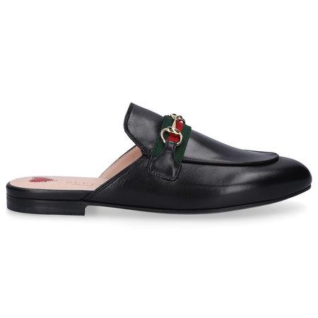 Gucci Slipper PRINCETOWN Kalbsleder Logo schwarz schwarz