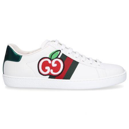 Gucci Sneaker low NEW ACE APPLE Kalbsleder Logo weiß weiss