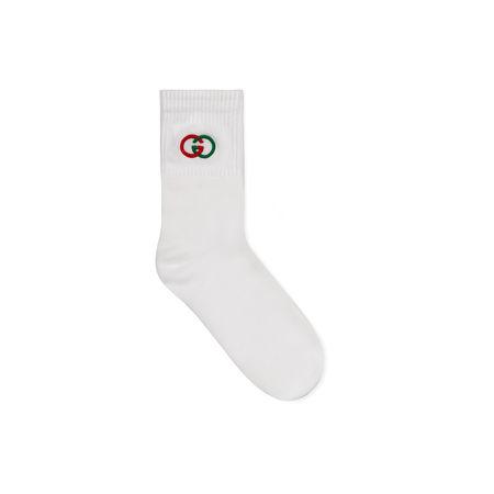 Gucci Socken mit GG grau