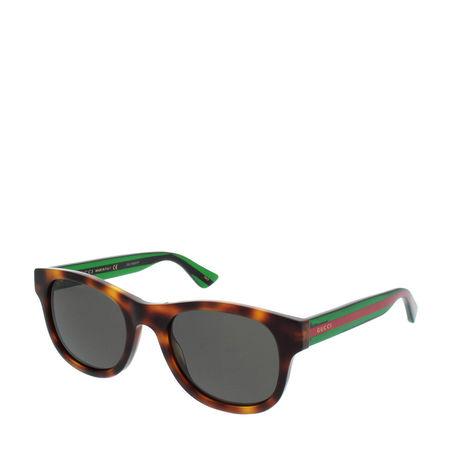 Gucci  Sonnenbrille  -  GG0003S 003 52  - in rot  -  Sonnenbrille für Damen grau