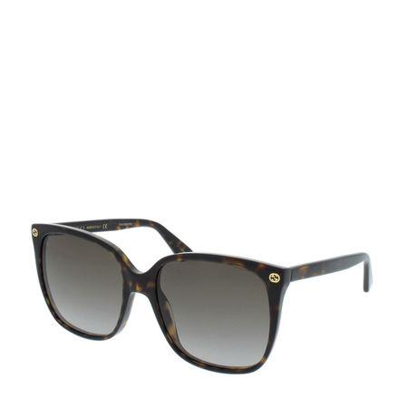Gucci  Sonnenbrille  -  GG0022S 003 57  - in braun  -  Sonnenbrille für Damen grau