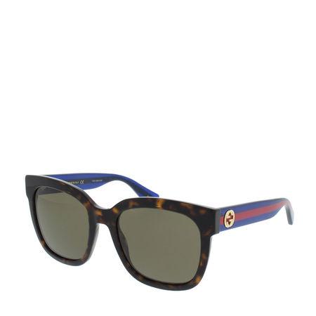 Gucci  Sonnenbrille  -  GG0034S 54 004  - in braun  -  Sonnenbrille für Damen grau