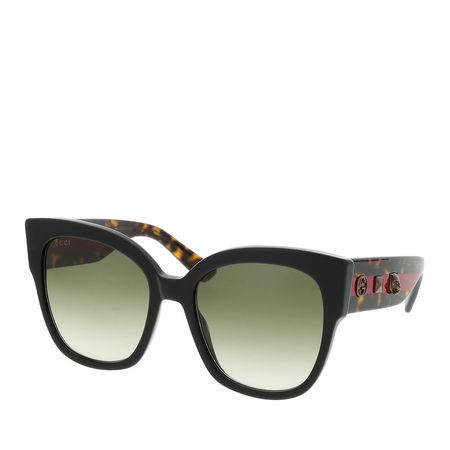Gucci  Sonnenbrille  -  GG0059S 55 001  - in braun  -  Sonnenbrille für Damen schwarz