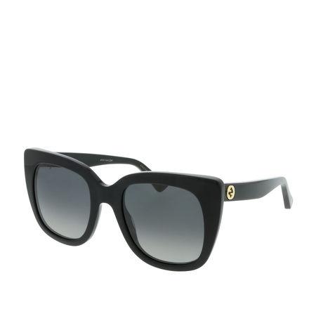 Gucci  Sonnenbrille  -  GG0163S 51 006  - in schwarz  -  Sonnenbrille für Damen grau