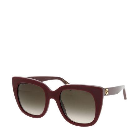 Gucci  Sonnenbrille - GG0163S 51 - in dark red - für Damen