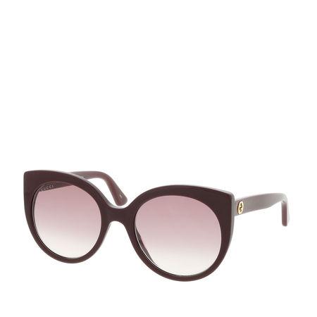 Gucci  Sonnenbrille  -  GG0325S 55 007  - in rot  -  Sonnenbrille für Damen braun