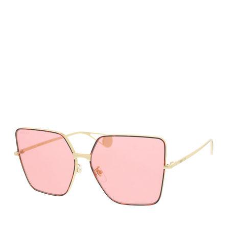 Gucci  Sonnenbrille - GG0436S 61 - in gold - für Damen rot