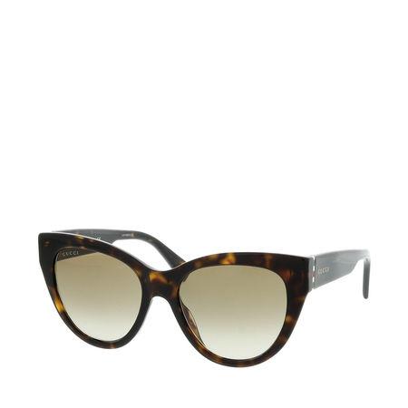 Gucci  Sonnenbrille - GG0460S 53 - in dark brown - für Damen braun