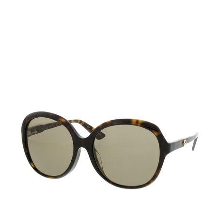 Gucci  Sonnenbrille  -  GG0489SA 58 002  - in braun  -  Sonnenbrille für Damen braun