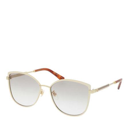 Gucci  Sonnenbrille  -  GG0589SK 57 003  - in gold  -  Sonnenbrille für Damen grau