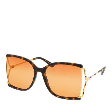Gucci  Sonnenbrille  -  GG0592S 60 003  - in braun  -  Sonnenbrille für Damen orange