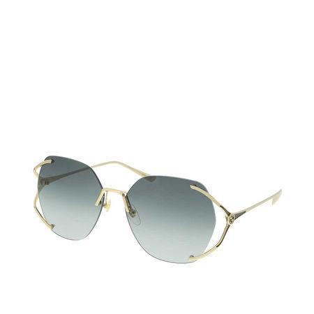 Gucci  Sonnenbrille - GG0651S-002 59 Sunglass WOMAN METAL - in gold - für Damen grau