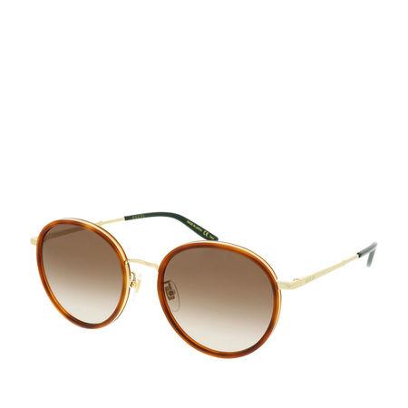 Gucci  Sonnenbrille  -  GG0677SK-003 55 Sunglasses Havana-Gold-Brown  - in braun  -  Sonnenbrille für Damen braun