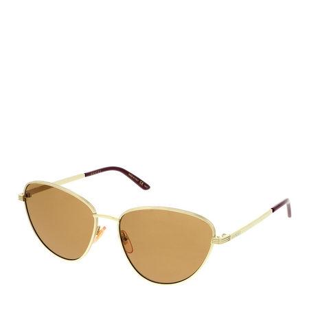 Gucci  Sonnenbrille - GG0803S-002 58 Sunglass WOMAN METAL - in gold - für Damen orange