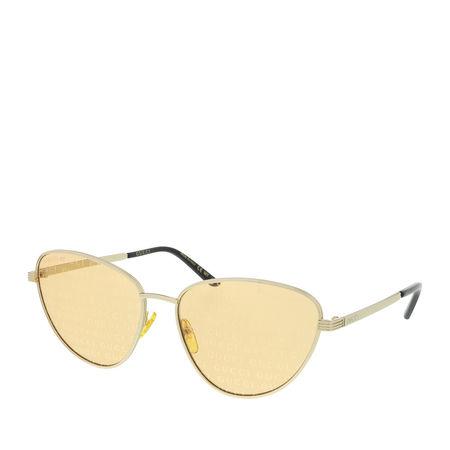 Gucci  Sonnenbrille - GG0803S-004 58 Sunglass WOMAN METAL - in gold - für Damen orange