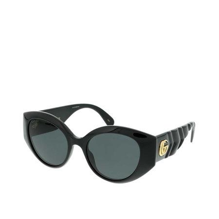 Gucci  Sonnenbrille - GG0809S-001 52 Sunglass WOMAN INJECTION - in schwarz - für Damen grau