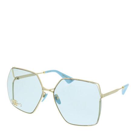 Gucci  Sonnenbrille - GG0817S-004 65 Sunglass WOMAN METAL - in gold - für Damen