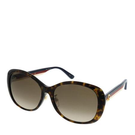 Gucci  Sonnenbrille - GG0849SK-003 59 Sunglass WOMAN ACETATE - in cognac - für Damen braun