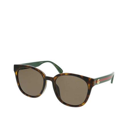Gucci  Sonnenbrille - GG0855SK-003 56 Sunglass WOMAN INJECTION - in cognac - für Damen braun
