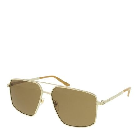Gucci  Sonnenbrille - GG0941S-003 60 Sunglass MAN METAL - in gold - für Damen braun