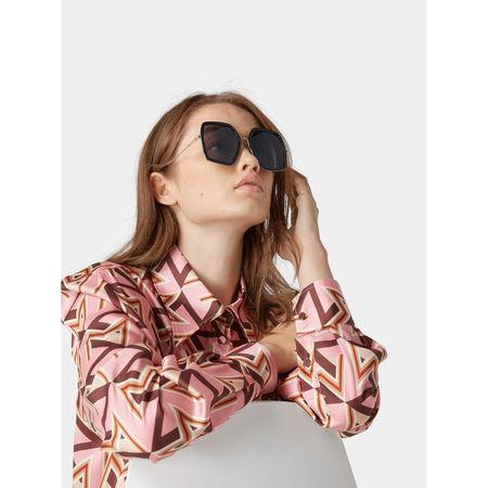 Gucci Sonnenbrille in eckiger Form grau
