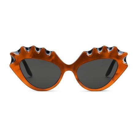 Gucci Sonnenbrille in Katzenaugenform grau