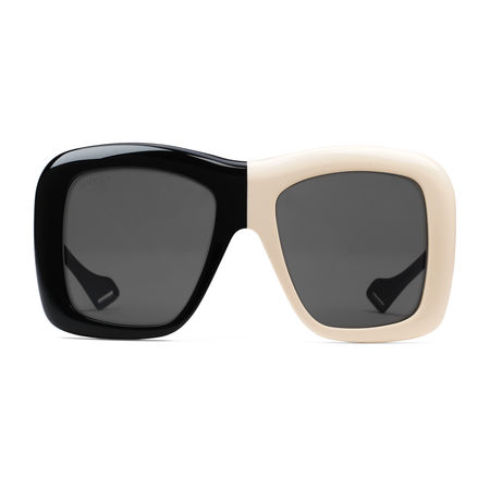 Gucci Sonnenbrille mit extragroßem, quadratischem Rahmen grau