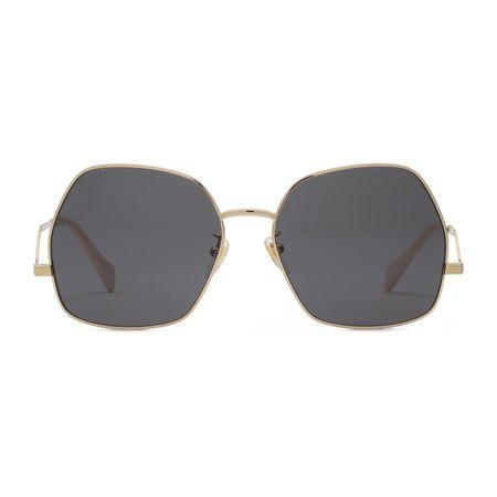 Gucci Sonnenbrille mit geometrischem Rahmen