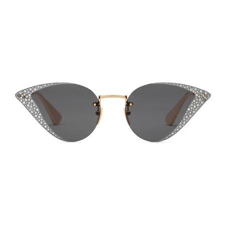 Gucci Sonnenbrille mit geometrischem Rahmen und Kristallen