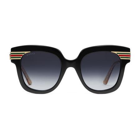 Gucci Sonnenbrille mit quadratischem Rahmen aus Acetat grau