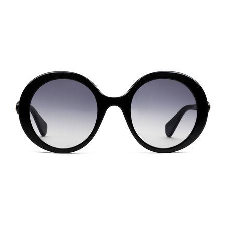 Gucci Sonnenbrille mit rundem Rahmen aus Acetat schwarz