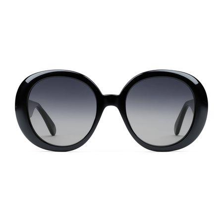 Gucci Sonnenbrille mit rundem Rahmen und Web