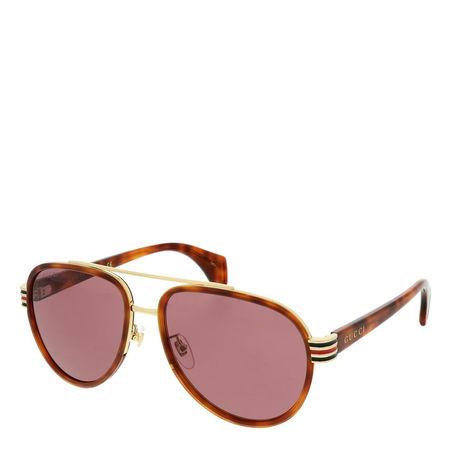 Gucci  Sonnenbrillen - GG0447S-006 58 Sunglasses - in multi - für Damen braun
