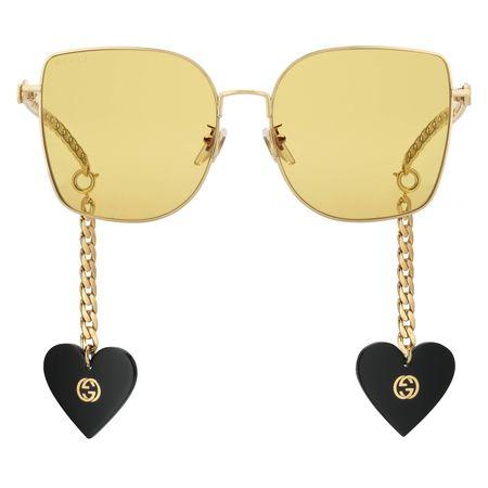 Gucci Speziell geformte Sonnenbrille mit Anhänger, nur online