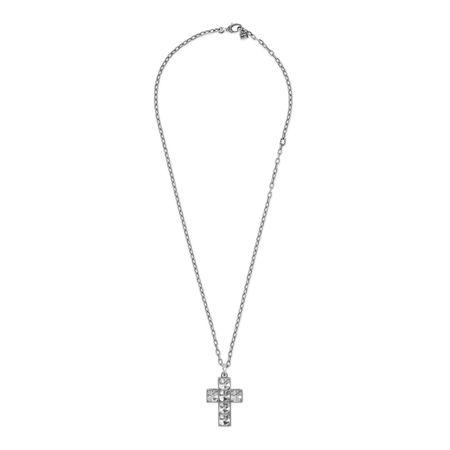 Gucci Square GKreuz-Halskette grau