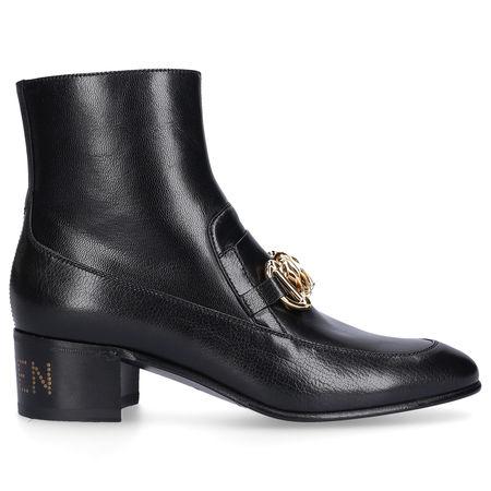 Gucci Stiefeletten D3V00 Kalbsleder Horsebit-Detail schwarz schwarz