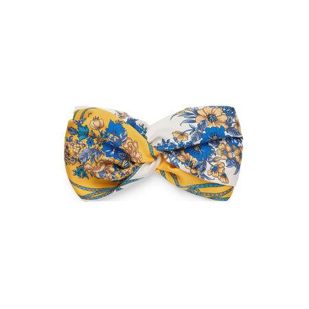 Gucci Stirnband aus Seide mit Blumen und Quasten