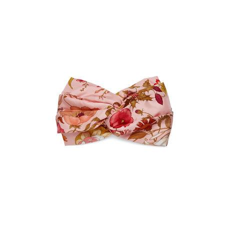 Gucci Stirnband aus Seide mit Flora-Print braun